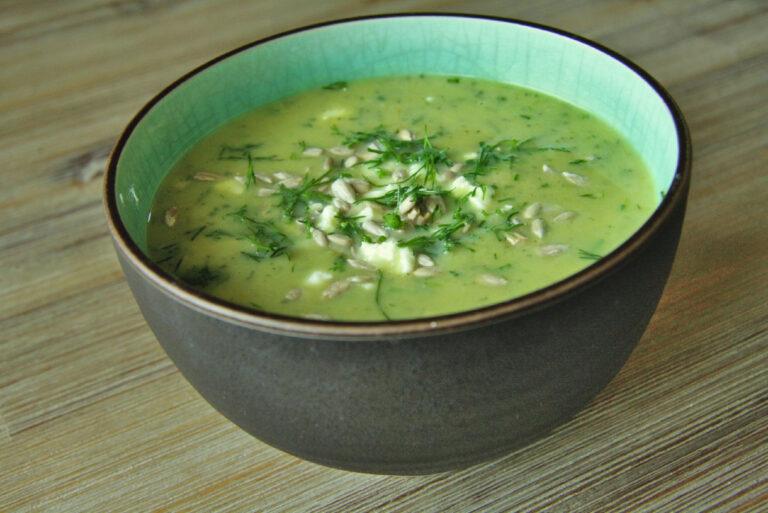 Zupa krem z bobu i cukinii